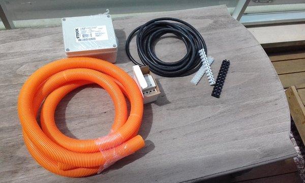 Materiales usados en la instalación en Malvin