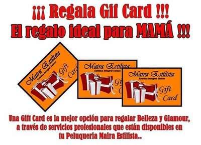 Regala GIF CARD!!! de Peluquería Maira Estilista.